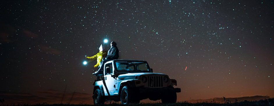 Viewing the Dark Sky from a vehicle